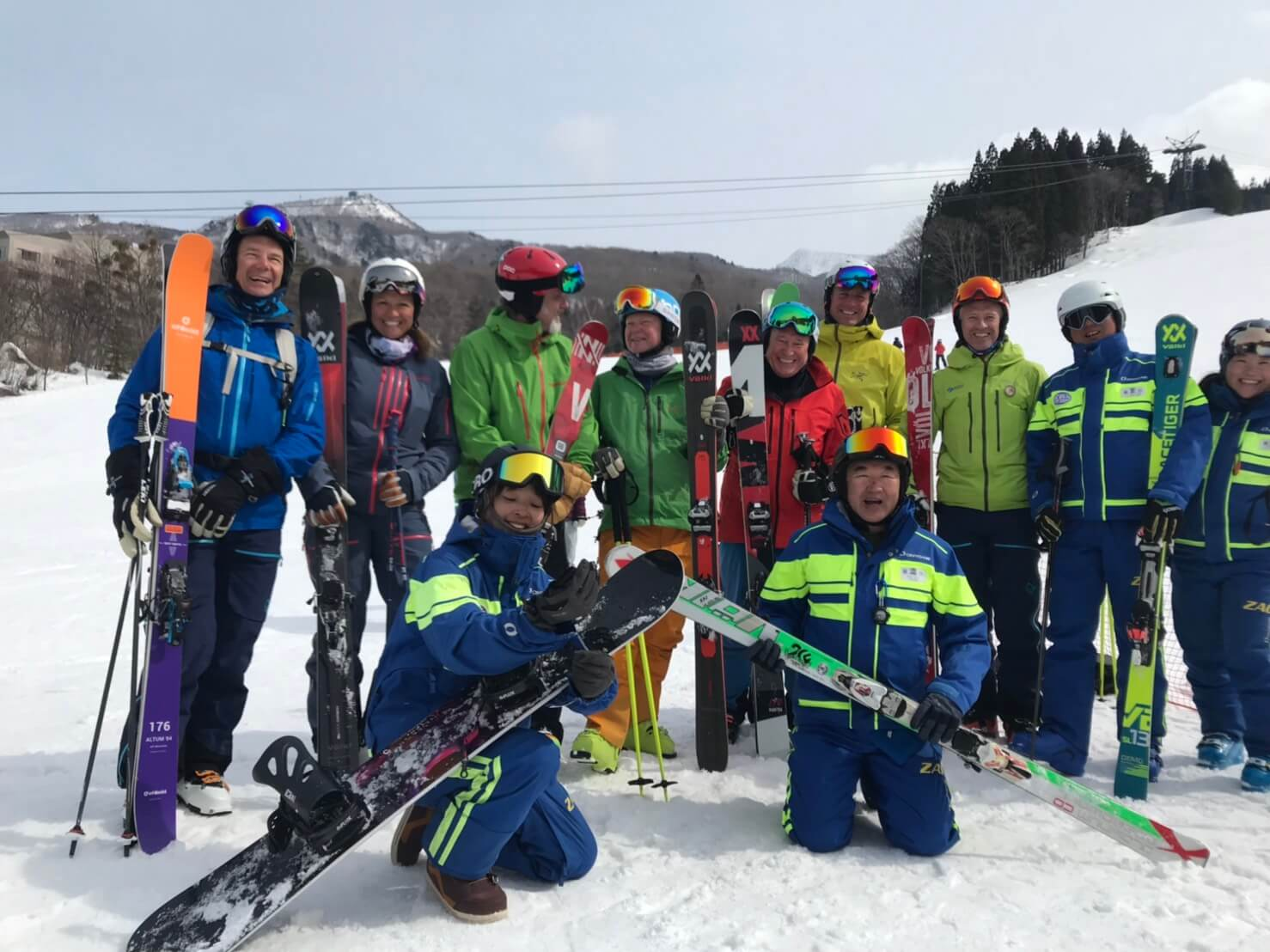 ZAOフライツァイトスキースクール、お客様とともに
